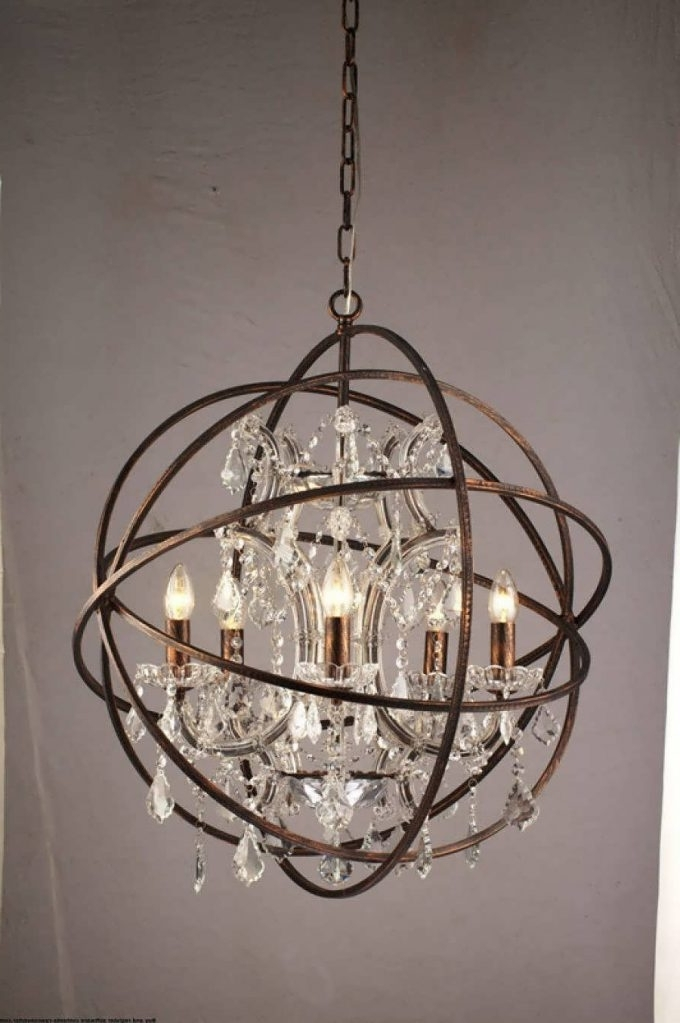 Favorite Metal Ball Candle Chandeliers For Metal Ball Candle Chandelier – Chandelier Designs (View 6 of 10)