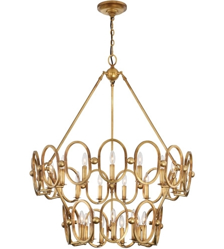 Favorite Metropolitan N6889 293 Clairpointe 24 Light 38 Inch Pandora Gold With Gold Leaf Chandelier (View 4 of 10)