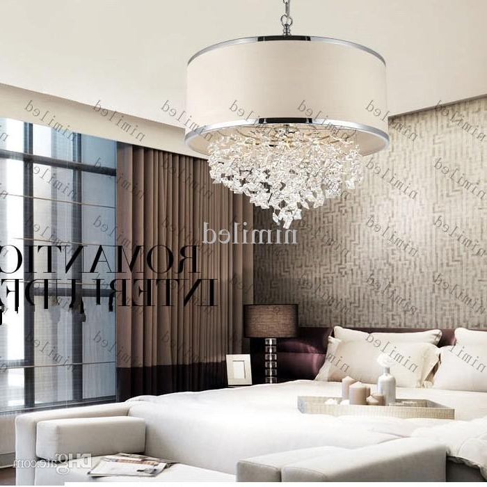 Favorite Modern Trendy White Lampshade Chandelier K9 Crystal Lamp Bedroom Pertaining To Trendy Chandeliers (View 4 of 10)