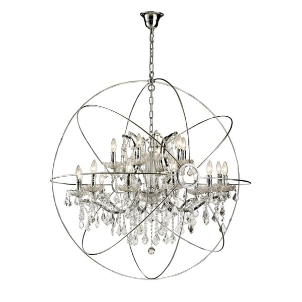Favorite Orb Chandelier Within 18 Light Iron/ Egyptian Crystal Orb Chandelier – Free Shipping Today (View 3 of 10)