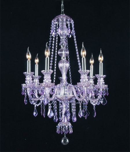 Favorite Purple Crystal Chandelier Lighting For G46 Purple/sm/490/7 Gallery Royal Collection *purple* Crystal Chandelier (View 6 of 10)