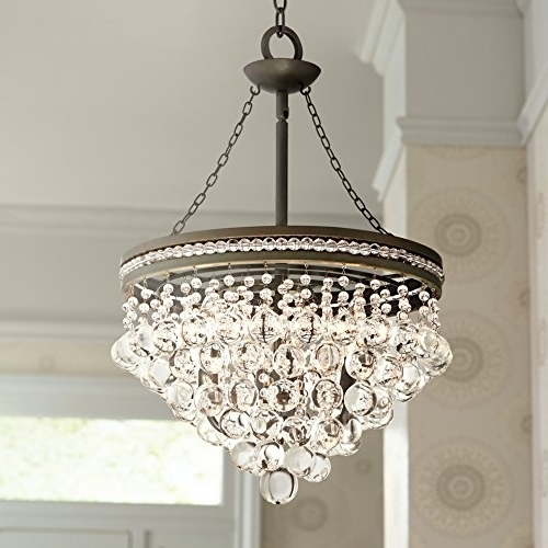 "Favorite Regina Olive Bronze 19"" Wide Crystal Chandelier – – Amazon With Bronze And Crystal Chandeliers (View 7 of 10)"