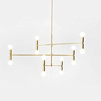 Favorite Yoka Modern Pendant Lighting Ceiling Chandelier Hanging Lamp With 12 Throughout Gold Modern Chandelier (View 2 of 10)