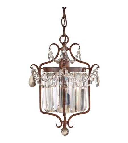 Feiss Gianna Scuro 1 Light Mini Chandelier In Mocha Bronze F2473/1Mbz Pertaining To Favorite Gianna Mini Chandeliers (View 4 of 10)