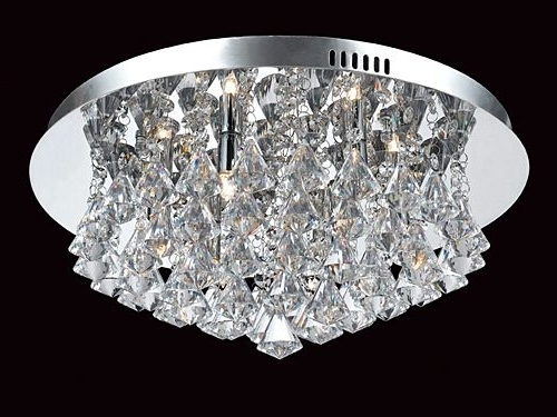 Flush Fitting Crystal Chandeliers London – Angelos Lighting Turnpike In Preferred Flush Fitting Chandeliers (View 3 of 10)