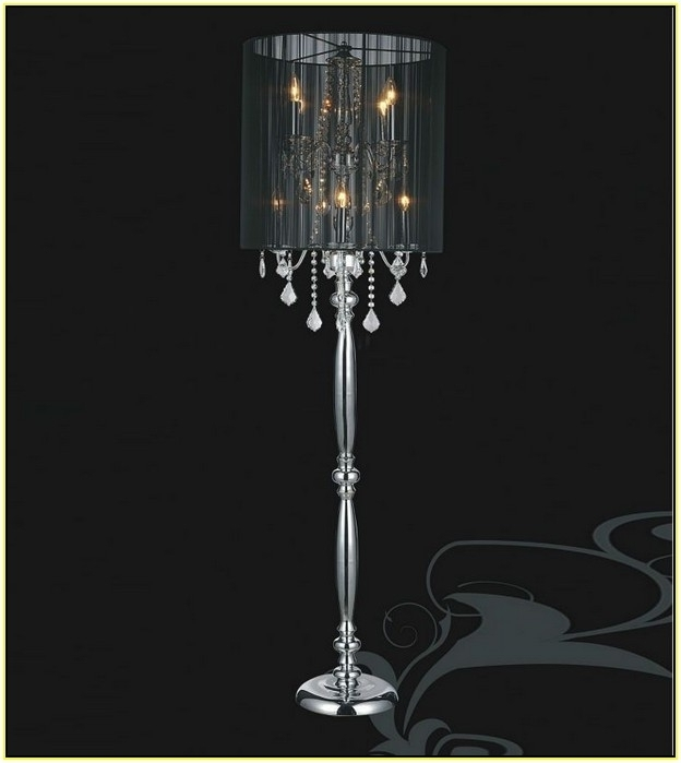 Free Standing Chandelier Lamps With Preferred Standing Chandelier Floor Lamp Home Design Ideas Shades Pics 64 Cool (View 2 of 10)