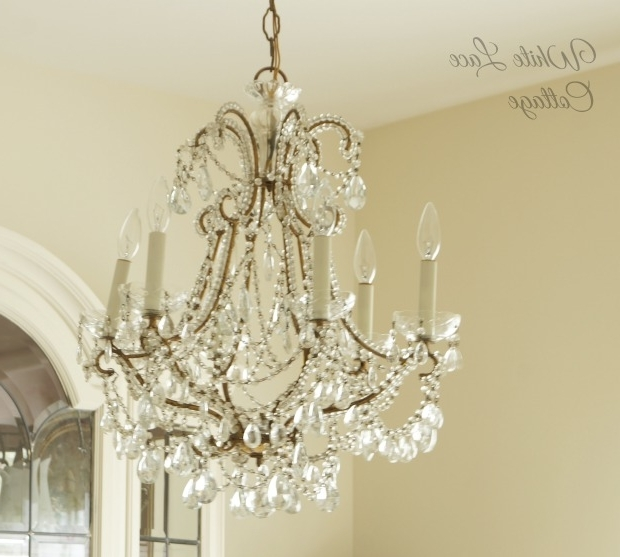 French Chandelier – White Lace Cottage Within Fashionable French Chandelier (View 8 of 10)