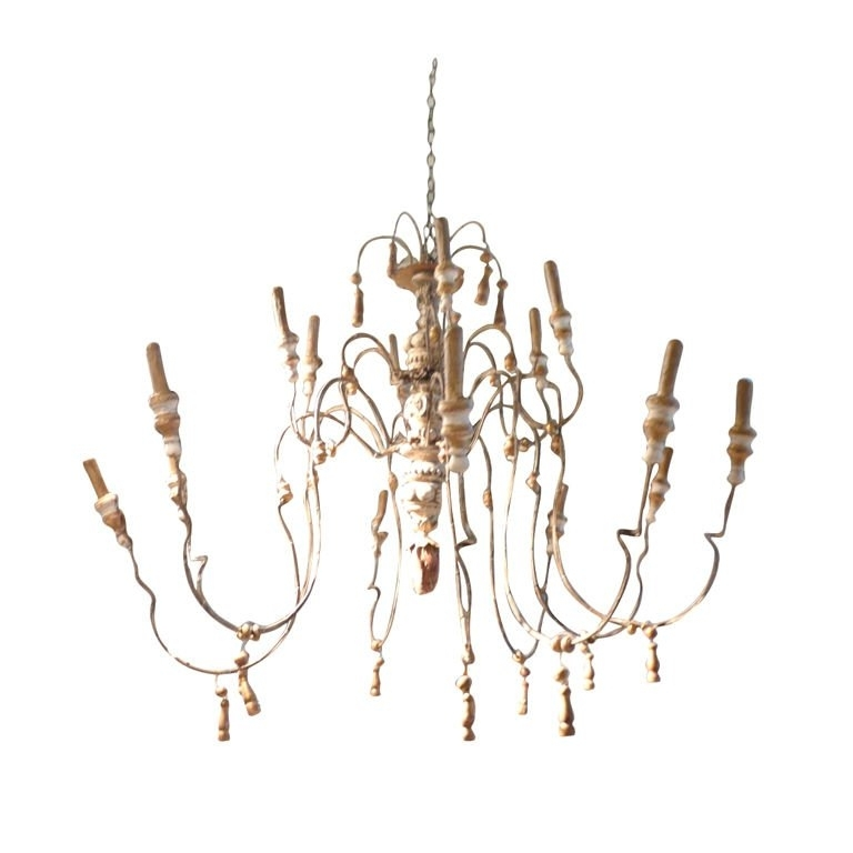 French Chandelier With Favorite 18Th Century Style Wood And Iron French Chandelier For Sale At 1Stdibs (View 2 of 10)