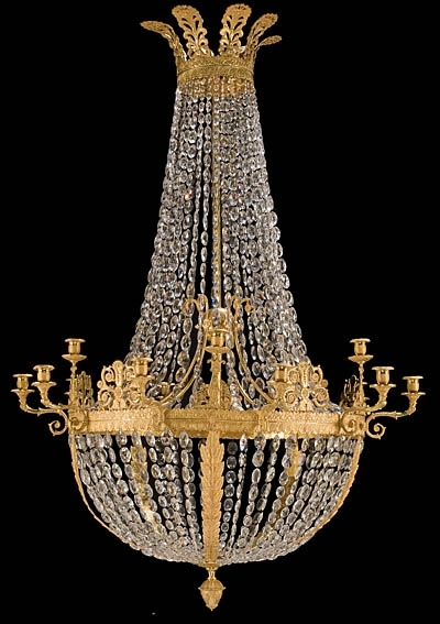 French Empire Style Bronze D'ore And Crystal Chandelier Pertaining To 2017 French Style Chandelier (View 2 of 10)