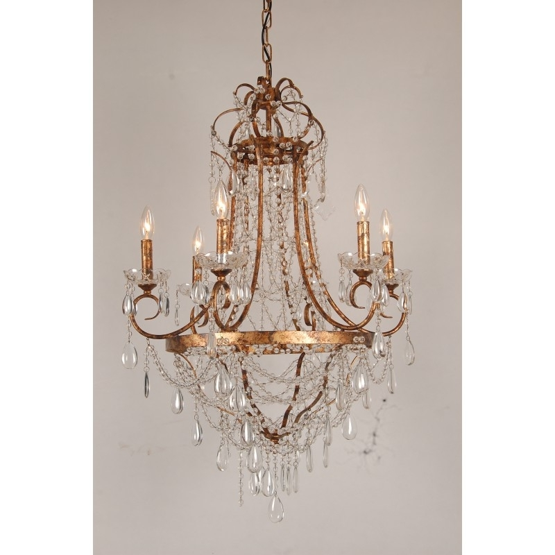 French Gold Chandelier For Most Up To Date European Design French Empire Crystal Basket Chandelier In Antique Gold (View 8 of 10)