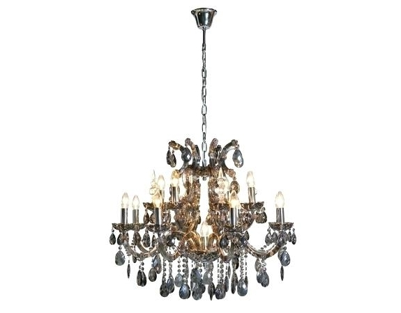 French Style Chandeliers Regarding Well Liked French Style Chandelier And Large Smoked Glass French Style (View 5 of 10)