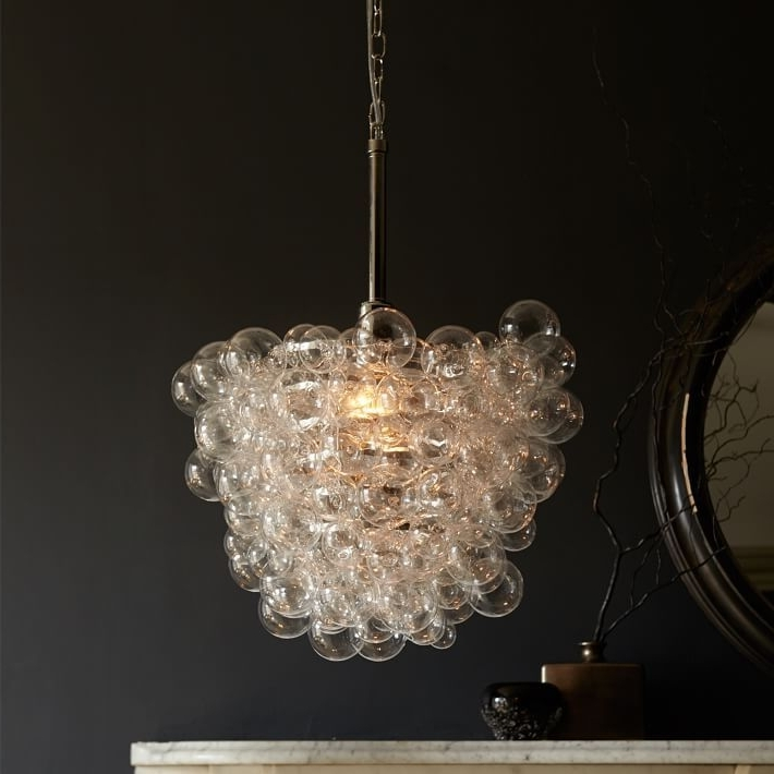 Glass Droplet Chandelier Regarding Popular Droplet Glass Pendant #westelm (View 4 of 10)