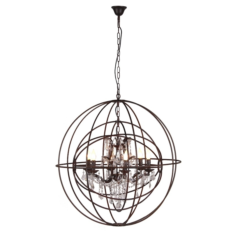 Globe Chandeliers Pertaining To Most Recent Rustic Globe Chandelier (Gallery 1 of 10)