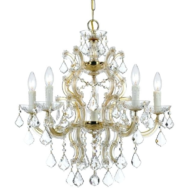 Gold And Crystal Chandelier Maria 6 Light Crystal Gold Chandelier In 2018 Crystal Gold Chandeliers (View 6 of 10)