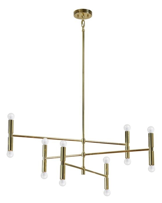 Gold Modern Chandelier Intended For Well Liked Unique Gold Modern Chandelier 69 For Small Home Remodel Ideas With (View 4 of 10)