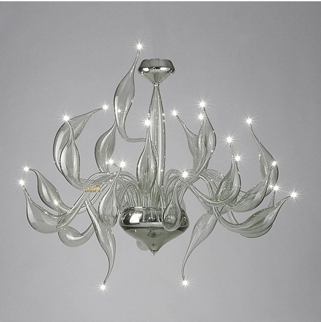 Grey Chandeliers Throughout Well Liked Italy Swan Chandelier Modern Murano Chandeliers Creative Art Glass (View 3 of 10)