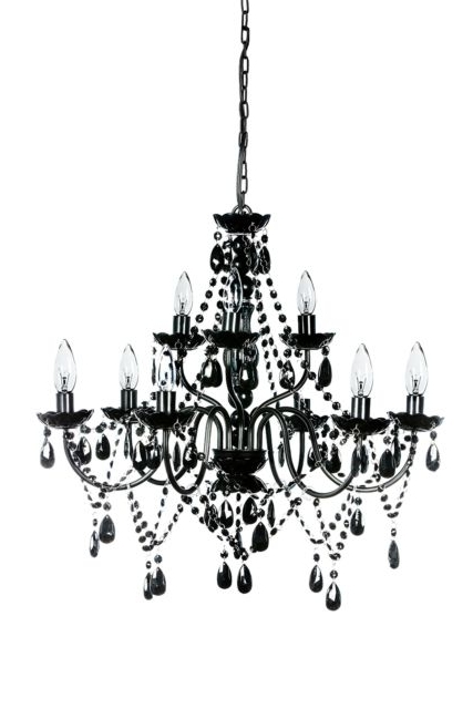 Gypsy Color X Large Black Chandelier 40W 9 Light E12 (Gallery 1 of 10)