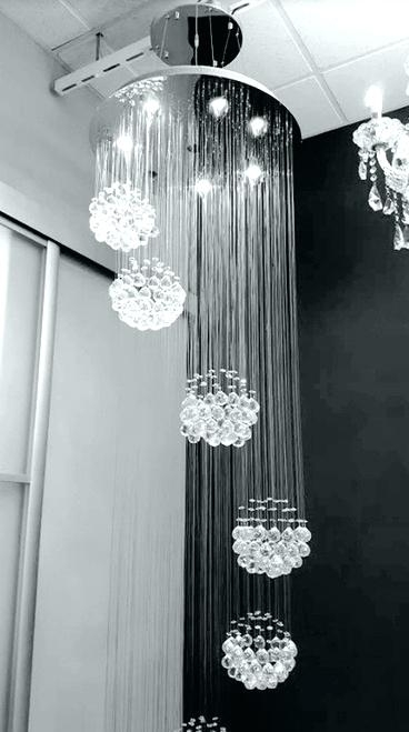 Hanging Crystal Chandeliers – Futuresharp With Most Popular Long Hanging Chandeliers (View 6 of 10)