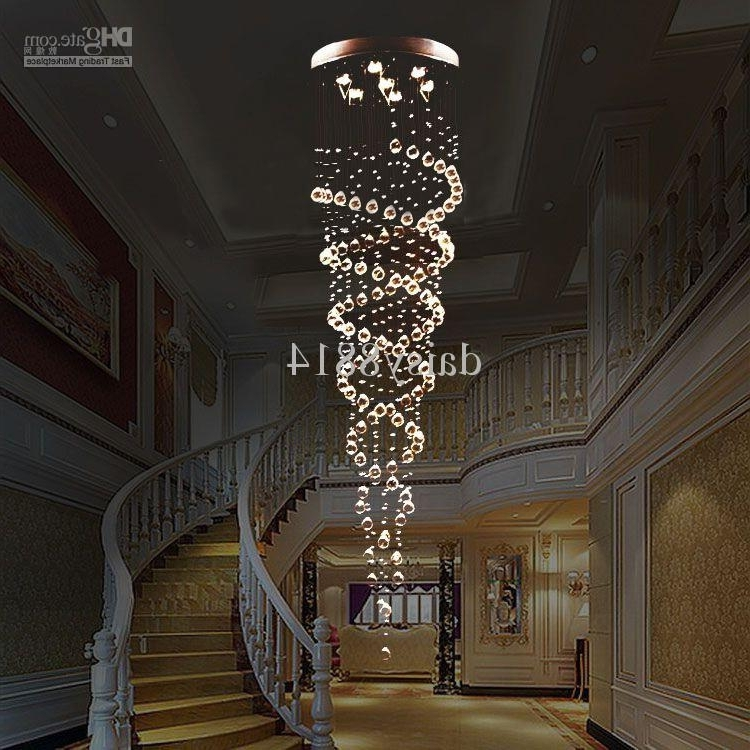 Holiday Sales Suprise Price Double Crystal Spiral Design Dia200 In Fashionable Long Modern Chandelier (View 4 of 10)