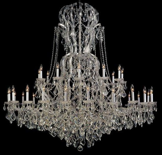 Home Design : Elegant Large Crystal Chandeliers Impressive Glass Within Most Popular Large Glass Chandelier (Gallery 4 of 10)