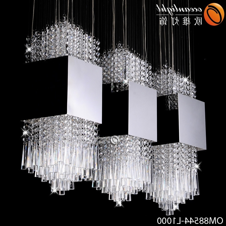 Hot Sale Modern Crystal Chandelier Lighting,diy Stainless Steel For Favorite Stairwell Chandeliers (View 1 of 10)
