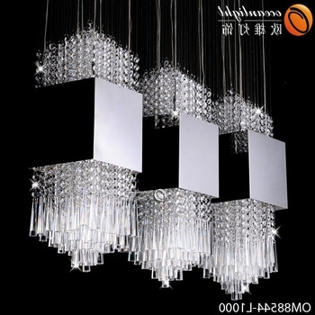 Hot Sale Modern Crystal Chandelier Lighting,diy Stainless Steel Throughout Widely Used Long Chandelier Light (View 2 of 10)