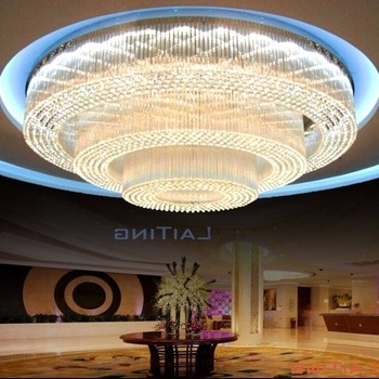 Hotel Big Luxury Banquet Hall Ceiling Chandelier Light, View Banquet Within Recent Hotel Chandelier (View 3 of 10)