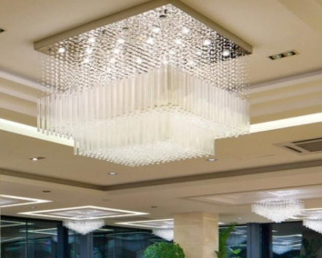 Hotel Chandelier With Famous New Cascading Ceiling Chandelier Crystal Luxury Hotel Lobby (Gallery 8 of 10)