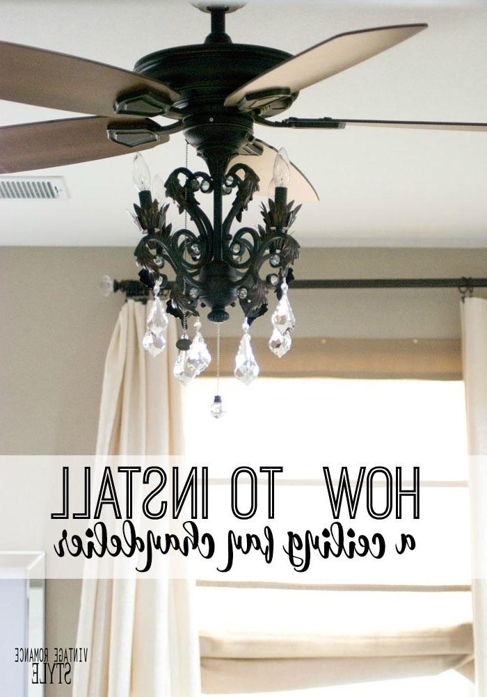 How To Install A Light Kit For A Ceiling Fan // New Year New Room In Fashionable Chandelier Light Fixture For Ceiling Fan (Gallery 2 of 10)
