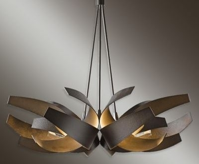 Hubbardton Forge Chandelier Modern Wrought Iron Chandeliers Reviews Regarding Most Current Modern Wrought Iron Chandeliers (View 4 of 10)