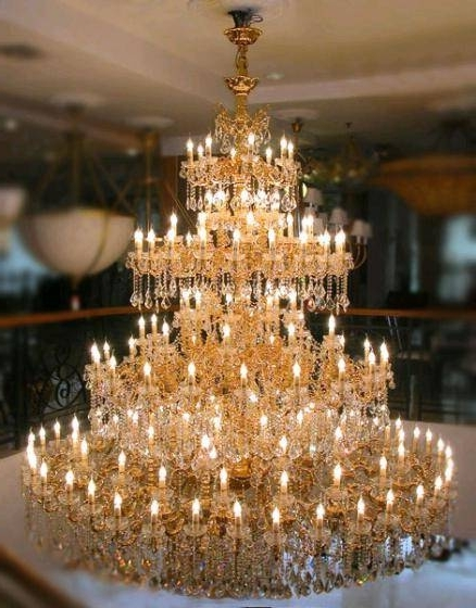 Huge Crystal Chandelier With 2018 Large Crystal Chandeliers For Hospitaliy Public Areas(Id: (View 5 of 10)