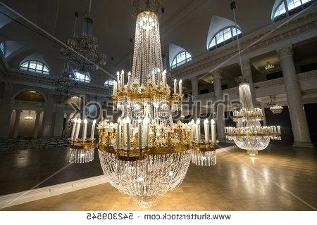 Huge Crystal Chandeliers Pertaining To Widely Used Crystal Chandelier Hall Saint 6 Huge Crystal Chandeliers In The (Gallery 2 of 10)