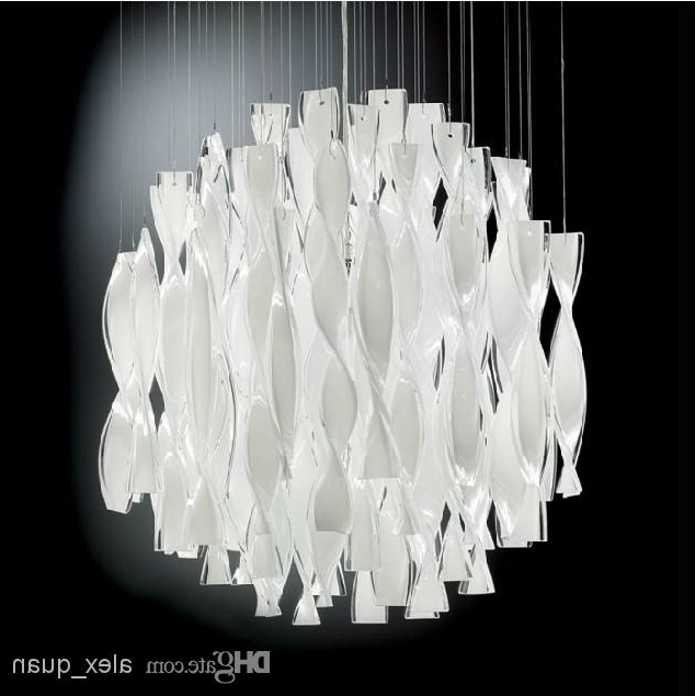 Hybrid Type Stair Large Chandelier Modern Glass Pendant Light With Regard To Most Recently Released Modern White Chandelier (View 2 of 10)