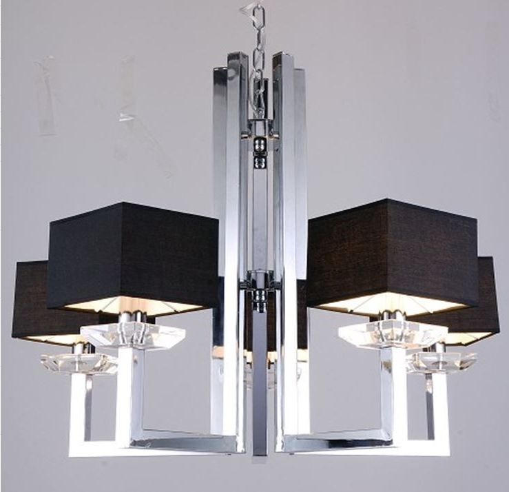 Imogen Modern Chrome And Black Chandelier Lamp In Most Current Modern Chrome Chandelier (View 7 of 10)