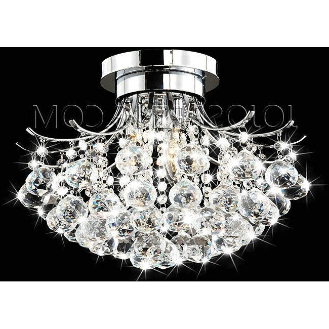 Indoor 3 Light Chrome  Crystal Chandelier Within Most Popular Crystal Chrome Chandelier (View 7 of 10)