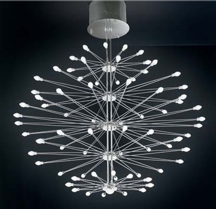 Inspiration Modern Glass Chandelier For Home Decoration Ideas Regarding Most Up To Date Modern Glass Chandeliers (View 4 of 10)