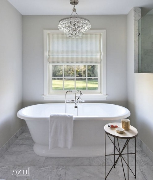 Interior Designs Home With Regard To Popular Chandelier In The Bathroom (View 8 of 10)