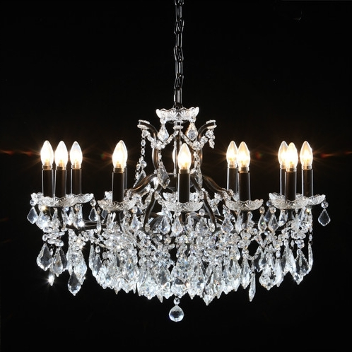 Interiors Pertaining To Short Chandelier (Gallery 2 of 10)
