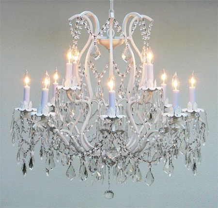[%J10 White/26014/12 Gallery Wrought [With Crystal] Wrought Iron For Famous White And Crystal Chandeliers|White And Crystal Chandeliers Pertaining To Well Liked J10 White/26014/12 Gallery Wrought [With Crystal] Wrought Iron|Most Recent White And Crystal Chandeliers Regarding J10 White/26014/12 Gallery Wrought [With Crystal] Wrought Iron|Most Recently Released J10 White/26014/12 Gallery Wrought [With Crystal] Wrought Iron For White And Crystal Chandeliers%] (View 1 of 10)