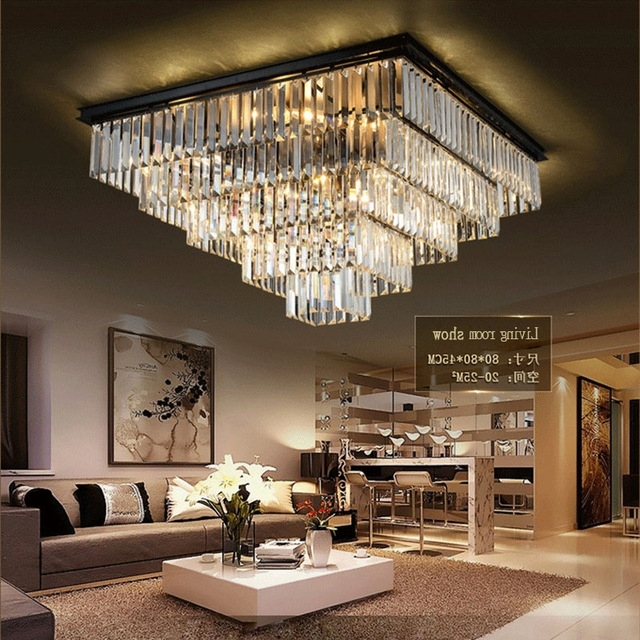 Laimaik Crystal Led Ceilinglight Large Chandelier Luxury Crystal With Regard To Well Known Modern Large Chandelier (View 5 of 10)