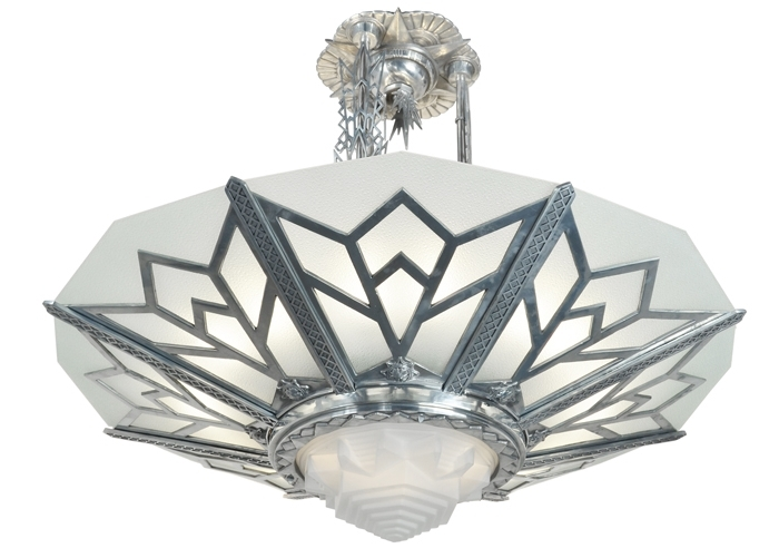 Large Art Deco Chandelier Pertaining To Most Up To Date Vintage Hardware & Lighting – Large Art Deco Chandelier Manhattan (View 3 of 10)