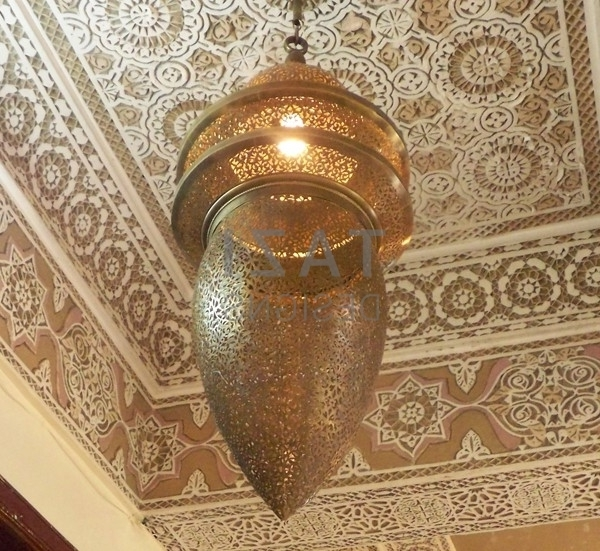 Large Brass Chandelier Intended For Well Liked Moroccan Large Brass Chandelier – Hassan – Tazi Designs (View 6 of 10)