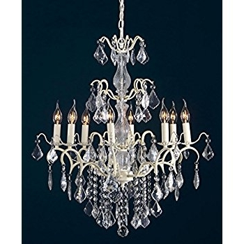 Large Cream Chandelier In Well Liked Charlotte Cream Crack Glass French Large Chandelier – 8 Light (View 5 of 10)