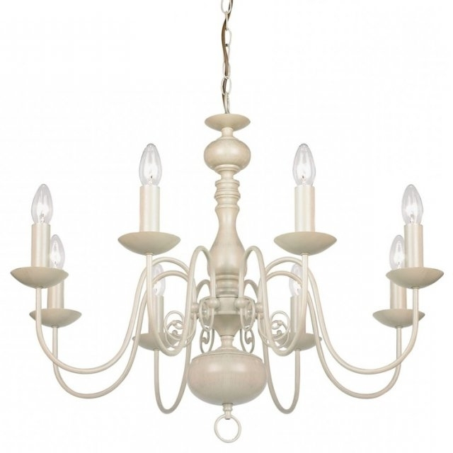 Large Cream Chandelier (Gallery 2 of 10)