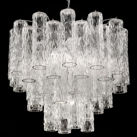Large Glass Chandelier Inside Most Recently Released Murano Glass Lighting Fixtures Tronchi Large Murano Glass Chandelier (View 8 of 10)