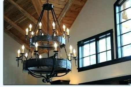 Large Iron Chandeliers Intended For Famous Large Iron Chandelier Large Metal Chandeliers – Pinkfolio (View 3 of 10)