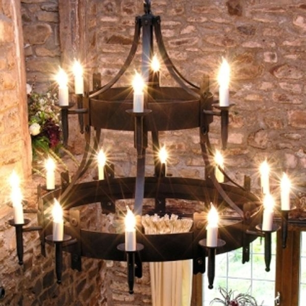 Large Iron Chandeliers Regarding 2017 Medieval Plates (View 10 of 10)