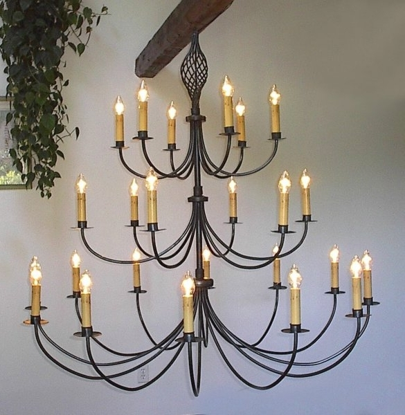 Large Iron Chandeliers With Regard To Newest Ace Wrought Iron Custom Large Wrought Iron Chandelier 60 Inch Dia (View 6 of 10)