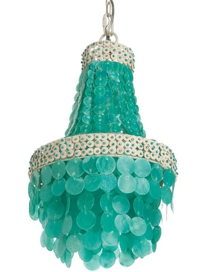 Large Turquoise Chandeliers With Well Known Home Design : Turquoise Chandelier Light Turquoise Chandelier Light (View 6 of 10)