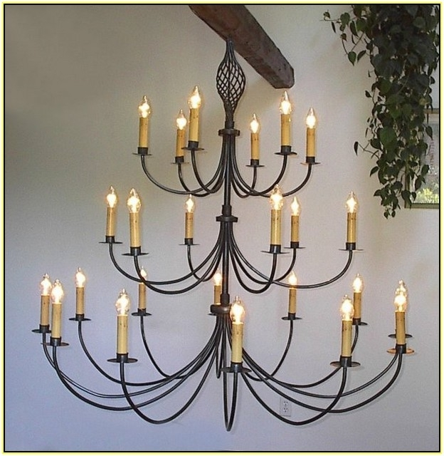 Large Wrought Iron Chandeliers (View 7 of 10)